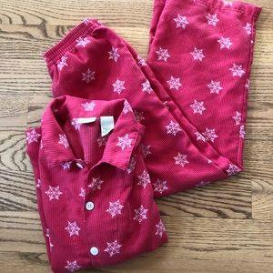 🎉Host Pick🎉 Red Flannel Snowflake PJ set